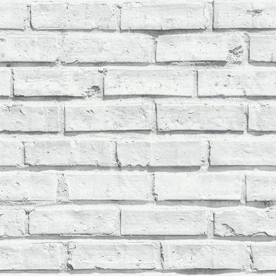 Arthouse VIP White Brick Effect Wallpaper 623004