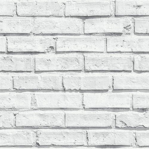 Arthouse VIP White Brick Effect Wallpaper 623004
