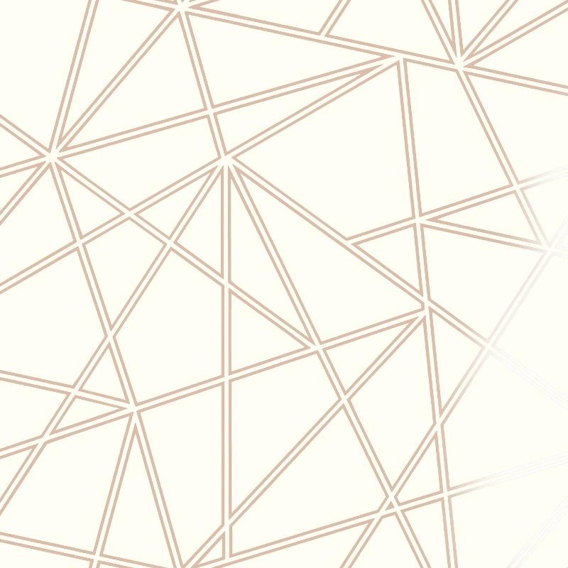 Rose Gold Palladium Geometric Wallpaper 90113