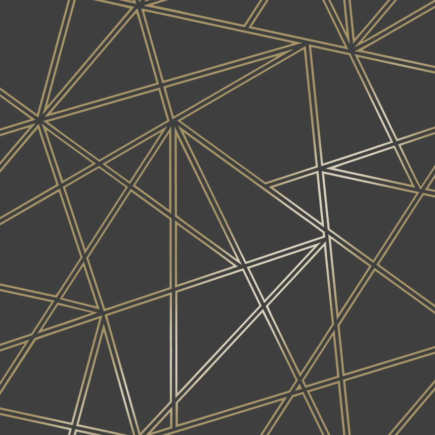 Black Gold Palladium Geometric Wallpaper Wallpaper Sales