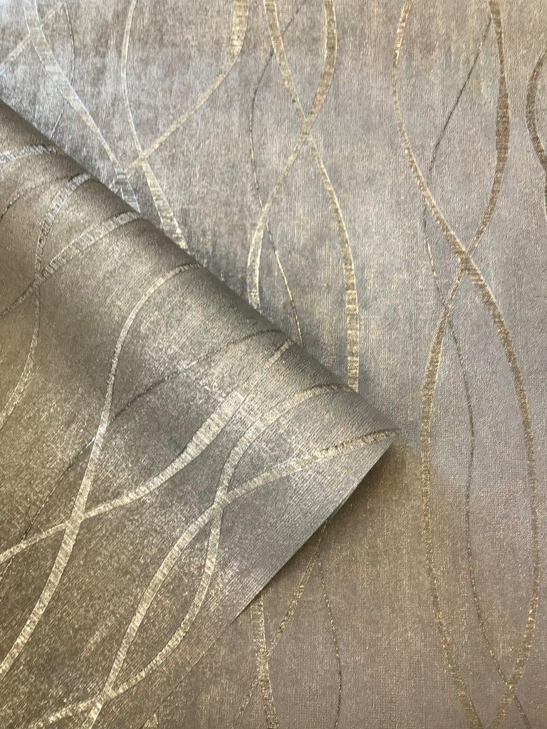 Hale Interiors Silver Metallic Wave Hi733 Wallpaper Sales