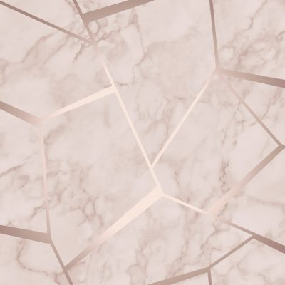 Fractal Geometric Marble Wallpaper Rose Gold FD42264