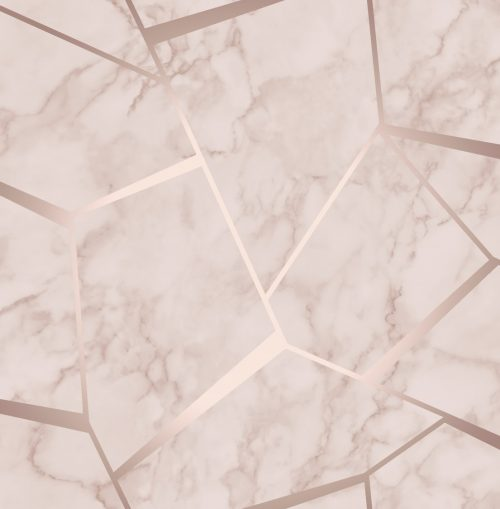 Fractal Geometric Marble Wallpaper Rose Gold FD42264