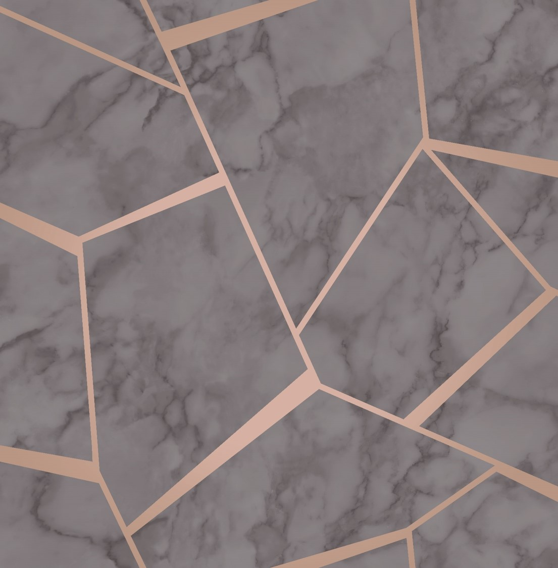 Copper Rose Gold Fractal Marble Geometric Wallpaper Sales