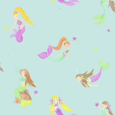 Mermaid World Teal 696103 Arthouse Wallpaper