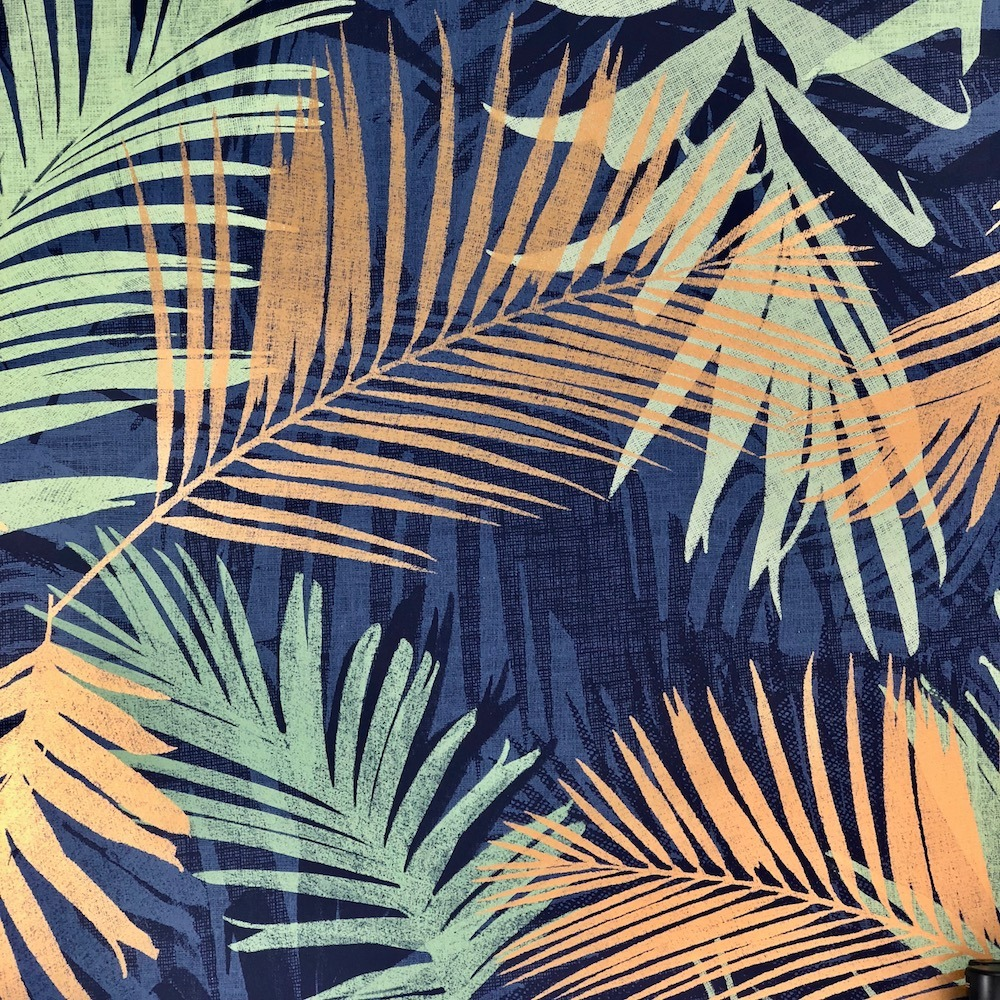 Jungle Glam Navy And Green Tropical Botanical Leaf 104264