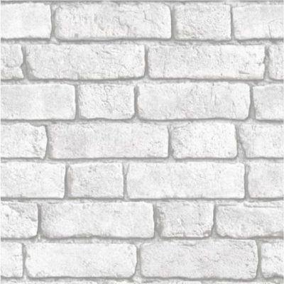 Muriva Bluff White Brick Wallpaper J30309