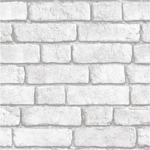 Muriva Bluff White Brick Wallpaper J30309