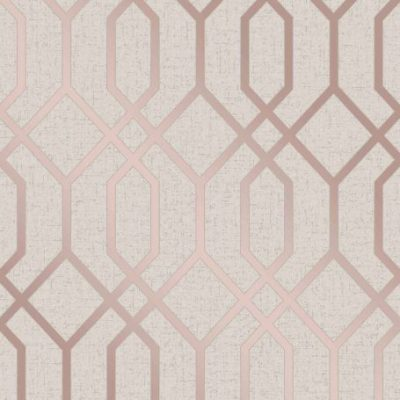 Rose Gold Quartz Trellis