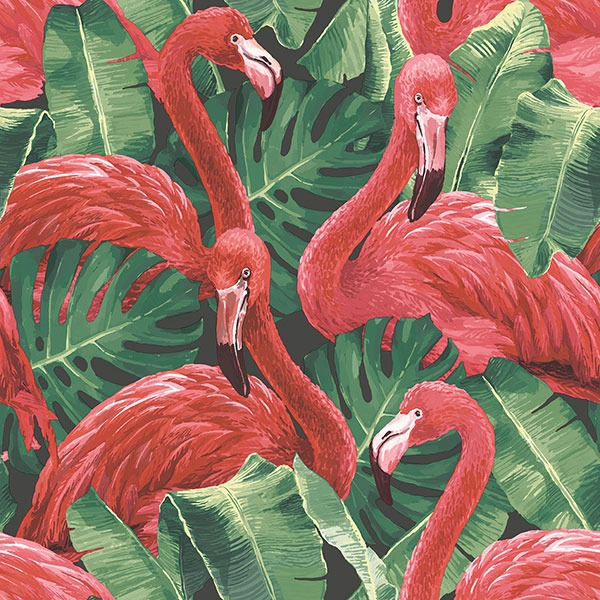 Global Fusion Red Flamingo G56405 Wallpaper Sales