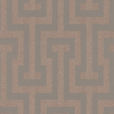 Copper Geometric Glitterati GL41137 Wallpaper