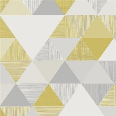 Grandeco Life Lisette Wallpaper IW3001 Yellow/Grey