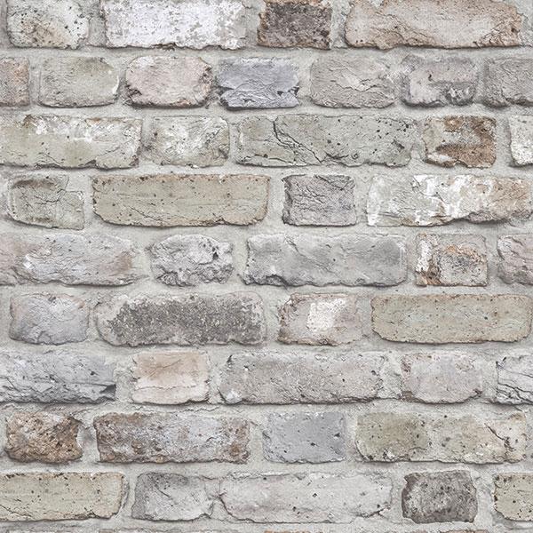 Grey Brick FC2501 Facade Wallpaper | Wallpaper Sales