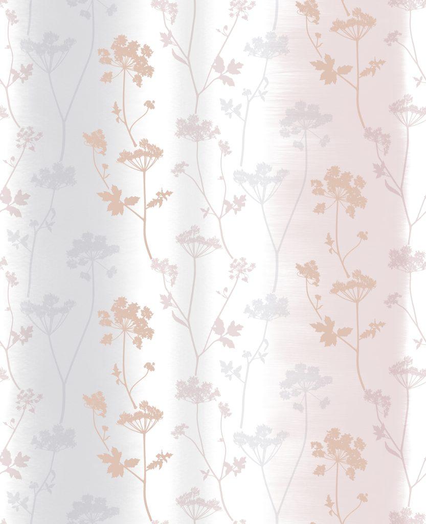 Summertime Rose Gold Floral Wallpaper 106408 | Wallpaper Sales
