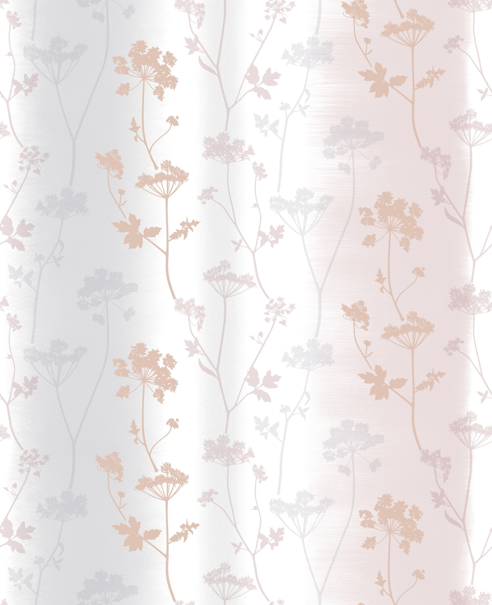 Summertime Rose Gold Floral Wallpaper 106408 Wallpaper Sales