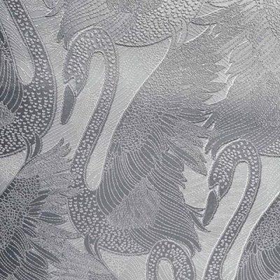 Odette Swan Silver Wallpaper 15110