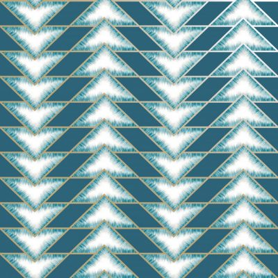 Teal Teton Geometric 90530 Holden Wallpaper