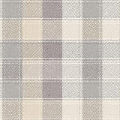 Country Tartan Check Taupe Grey 901902 Wallpaper