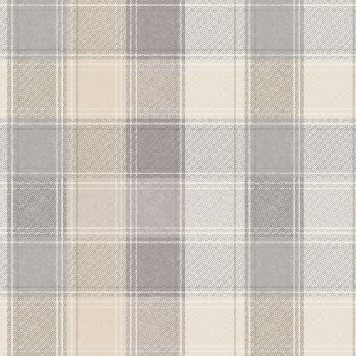 Country Tartan Check Taupe Grey 901902 Wallpaper