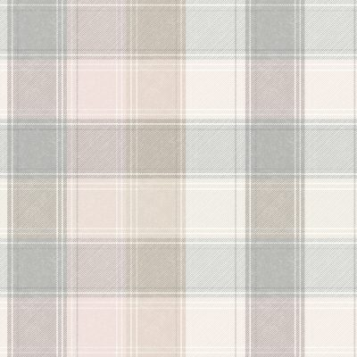 Country Tartan Check Pink Grey 901900 Wallpaper
