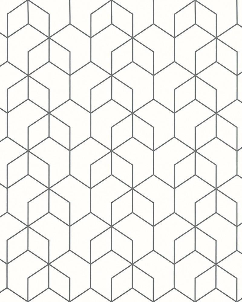 Dimensions 3d Geometric Black And White Wallpaper Hi40