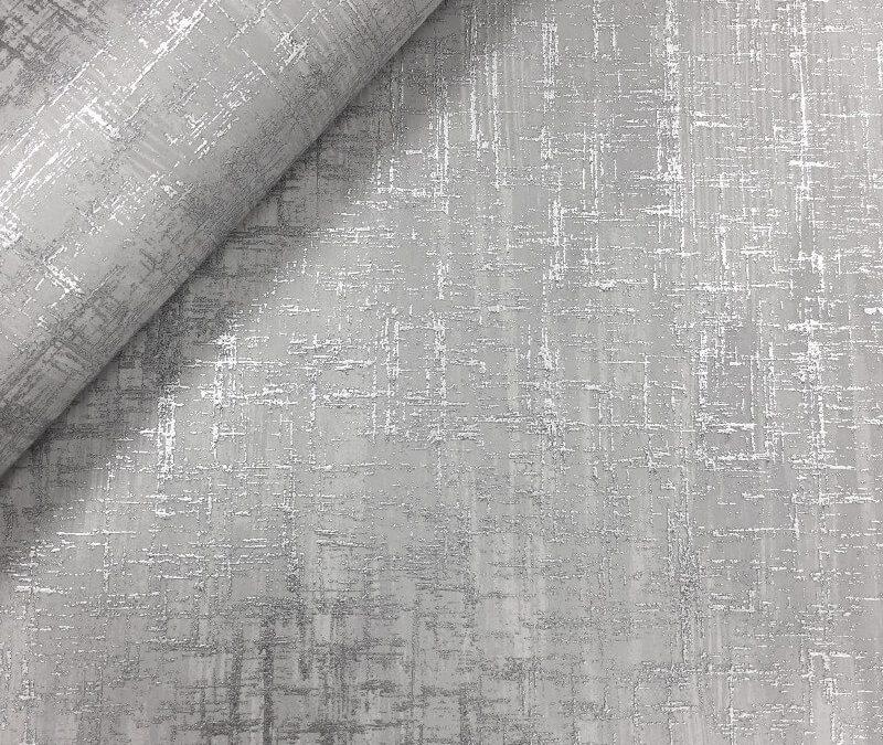 Muriva Cross Hatch Grey Wallpaper 702008