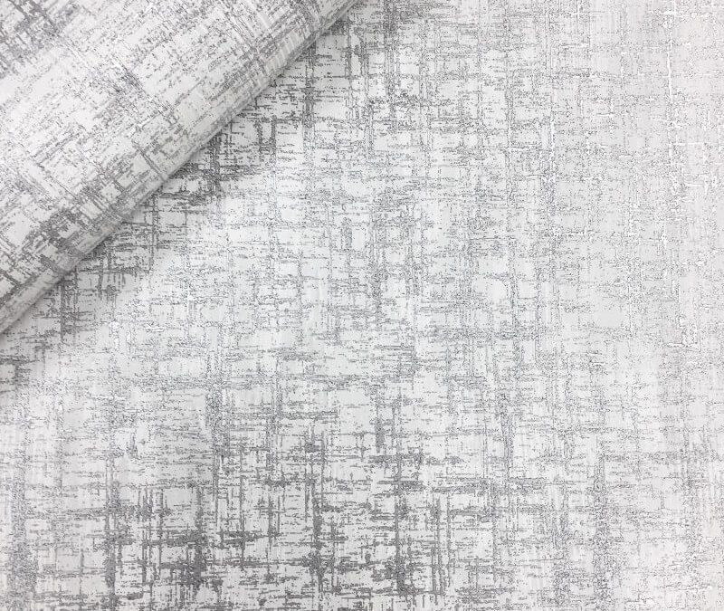 Muriva Charice Cross Hatch Silver Metallic Wallpaper 702006