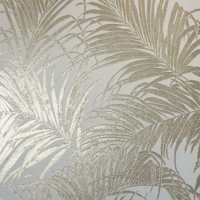 Kiss Foil Palm Metallic Cream Gold 903201 Wallpaper