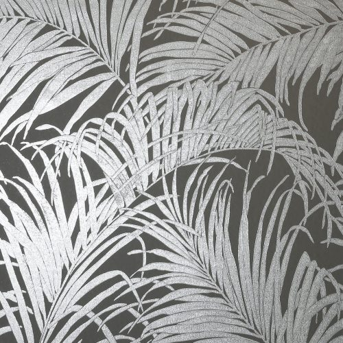Kiss Foil Palm Metallic Grey 903305 wallpaper