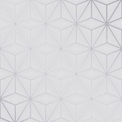 Pulse Star Geo Wallpaper Silver / Grey Fine Decor FD42338