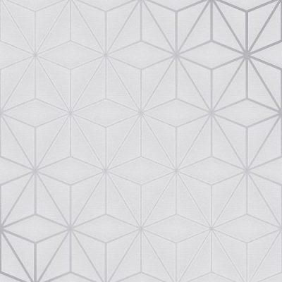 Pulse Star Geo Wallpaper Silver / Grey Fine Decor FD42338