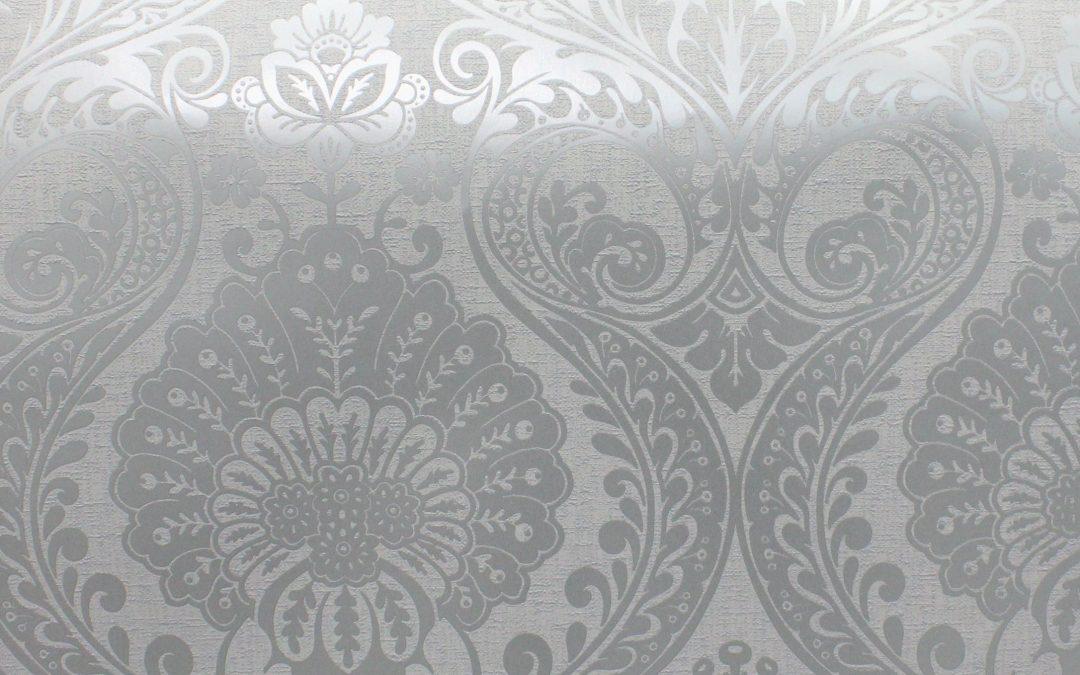 Decoris Damask Silver/Grey Arthouse 906609 Wallpaper