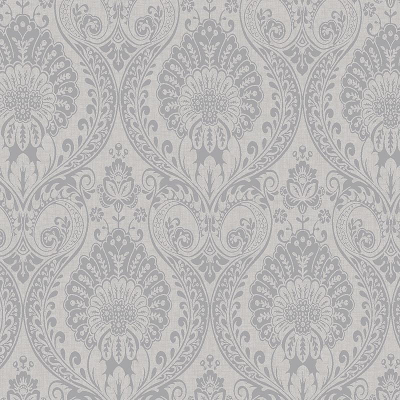 Damask Wallpaper Navy Blue Gold Metallic Shimmer Textured Arthouse Decoris