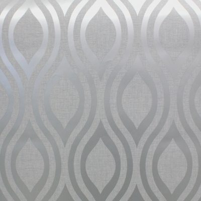 Luxe Ogee Silver Grey Wave Arthouse 910204 Wallpaper