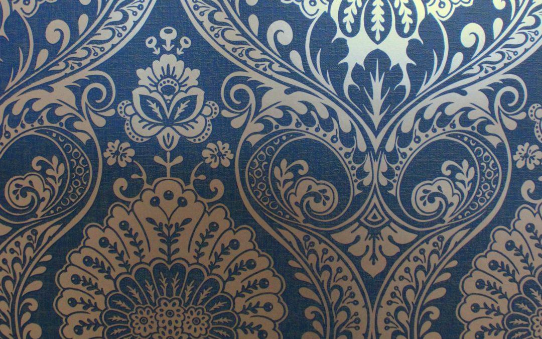 Decoris Damask Navy/Gold Arthouse 910308 Wallpaper