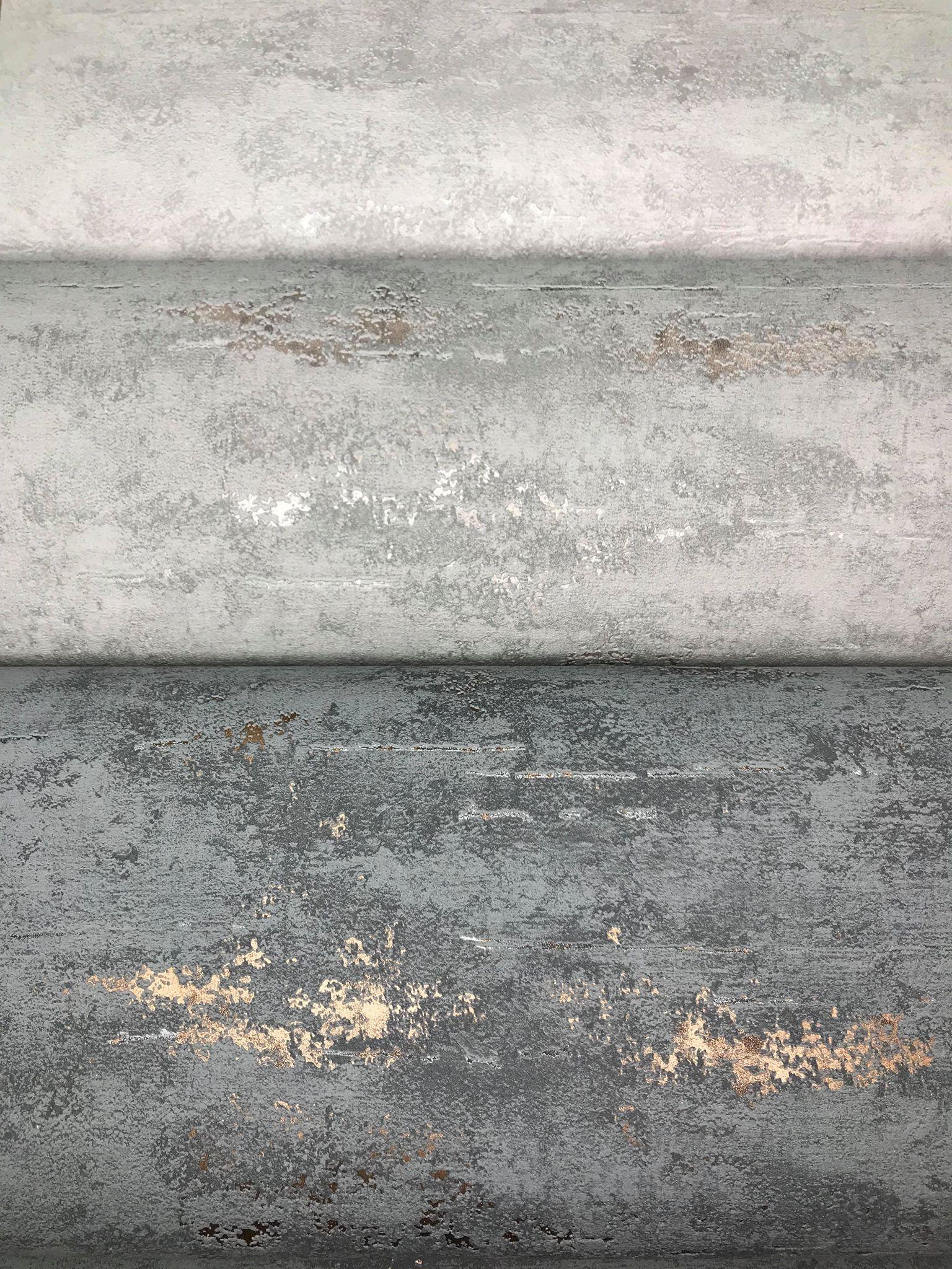 Orion Concrete Industrial Stone Distressed Metallic Silver
