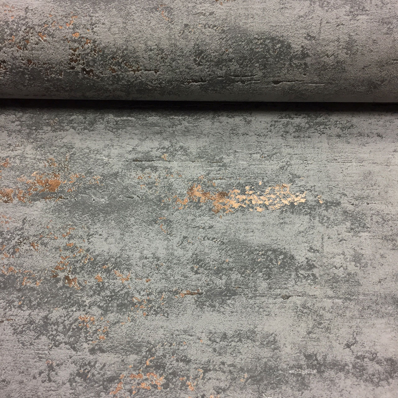 Orion Concrete Industrial Stone Distressed Metallic Copper