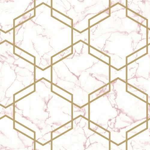 Geometric Pink/Gold Holden 90711