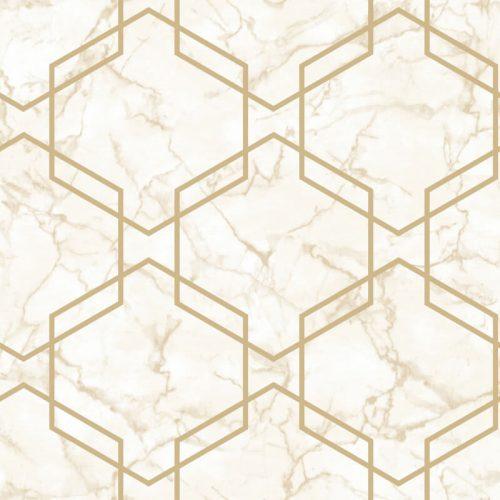 Geometric Beige/Gold Holden 90712