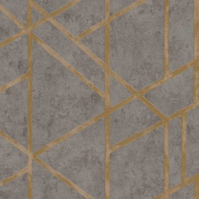 Charcoal/Gold Francesca Concrete Geometric 36928-1