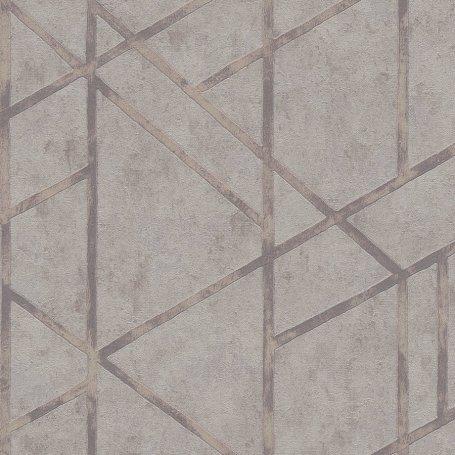 Grey Francesca Concrete Geometric 36928-2 Metropolitan Stories