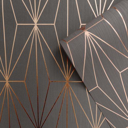 Kayla Metallic Geometric 703015