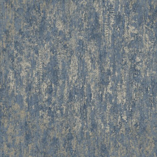 Industrial Texture Navy/Gold Metallic Holden 12842 Wallpaper