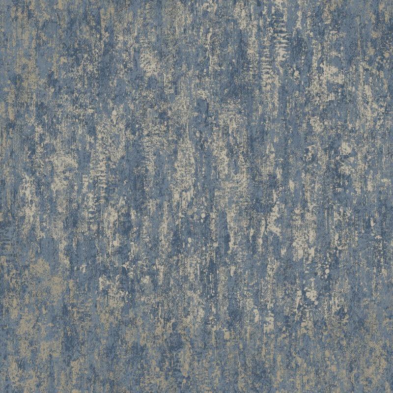 Distressed Texture Navy Gold Metallic Holden 12842 Wallpaper