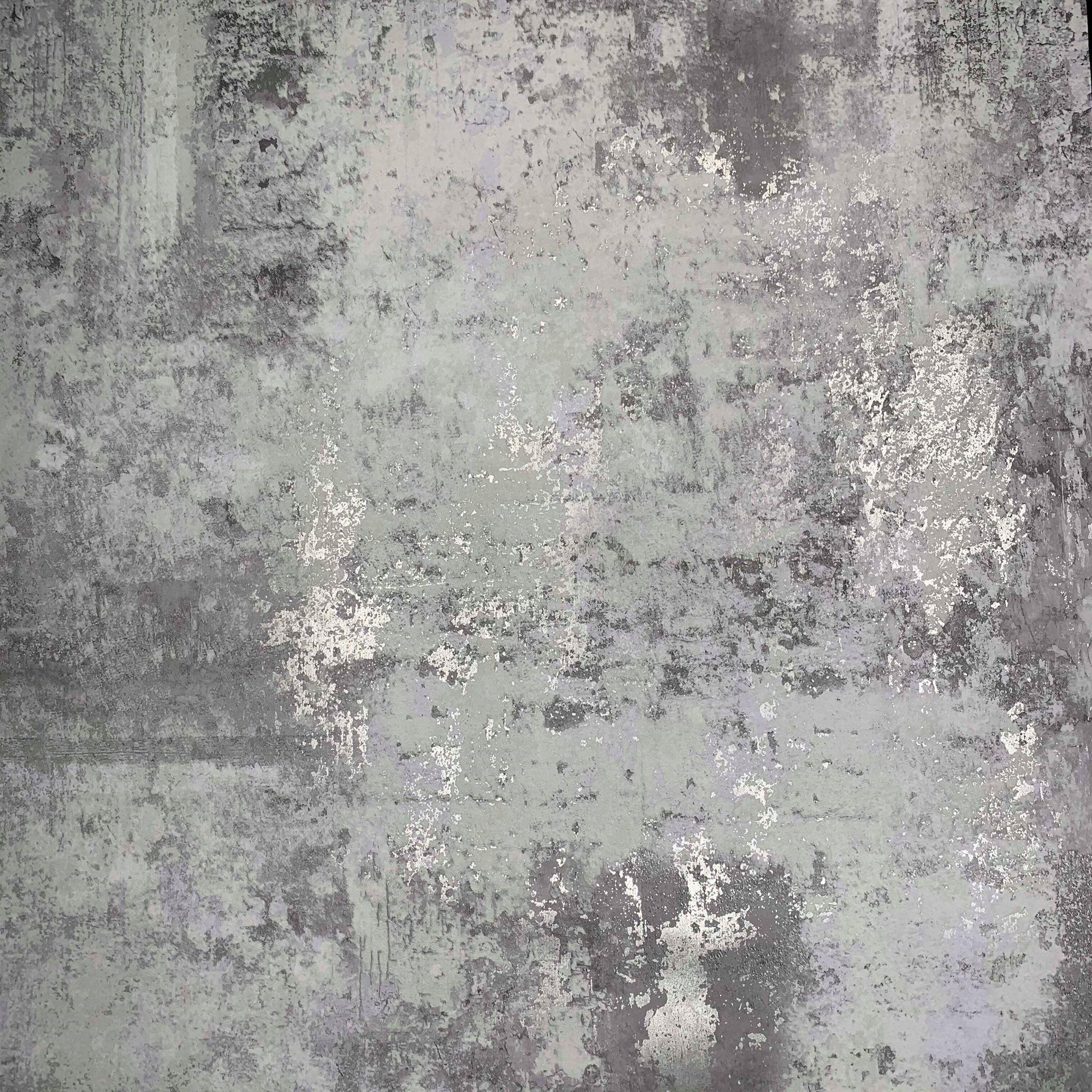 Exposed Metallic Industrial Texture Dark Grey 50103 Wallpaper Sales