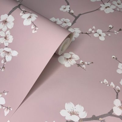 Pink Apple Blossom Wallpaper 108290 Graham and Brown
