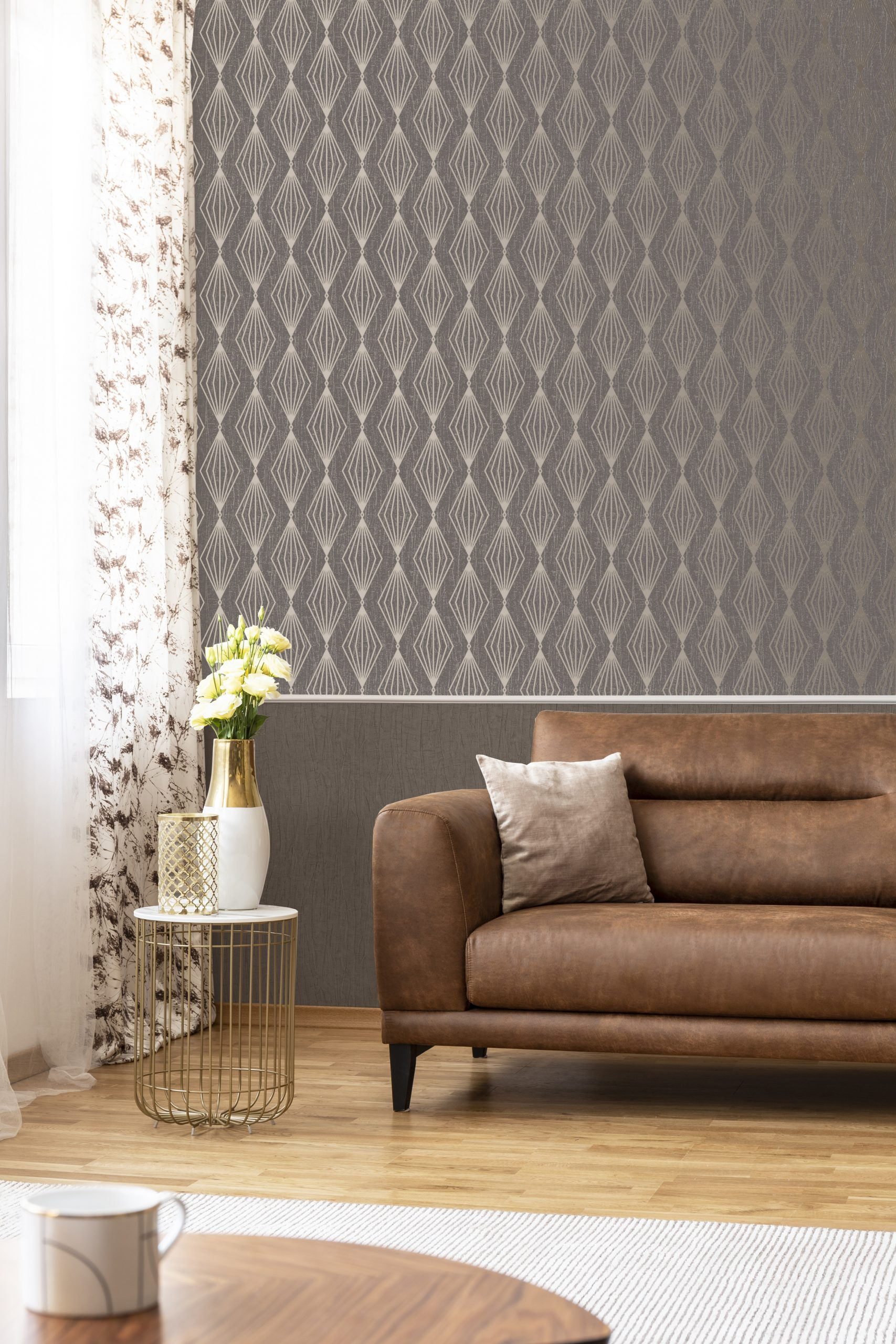 Marquise Geometric Copper 111311 Wallpaper Sales