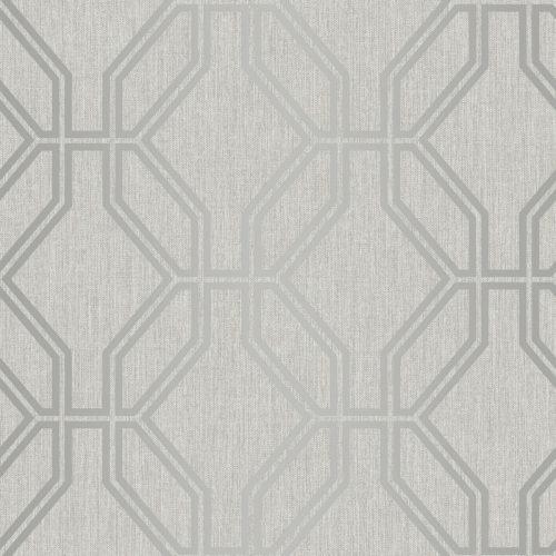Highgrove Trellis Grey Silver Rasch 275277
