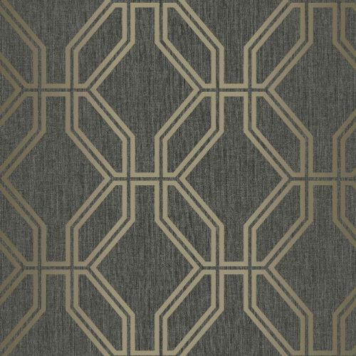 Highgrove Trellis Black Gold Rasch 275284