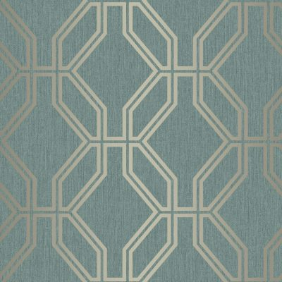 Highgrove Trellis Emerald Green Gold Rasch 275291